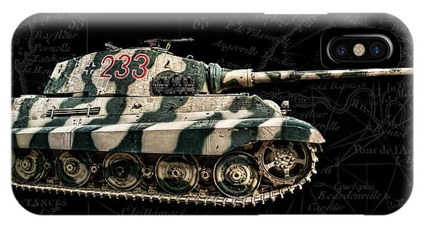 Panzer Tiger II Side Bk Bg IPhone Case