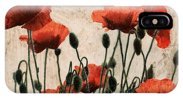 Poppies iPhone Case - Papaveri Rossi by Guido Borelli