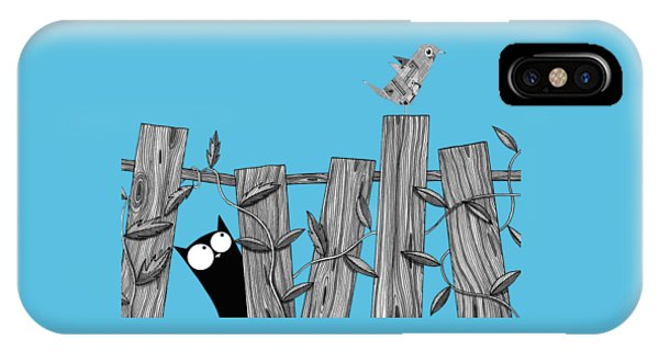 Cats iPhone Case - Paper Bird by Andrew Hitchen