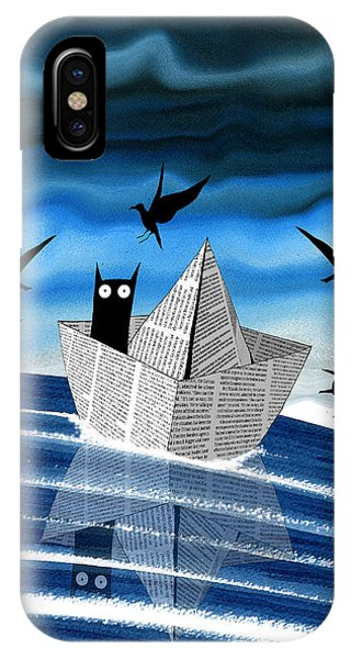Seagull iPhone Case - Paper Boat  by Andrew Hitchen
