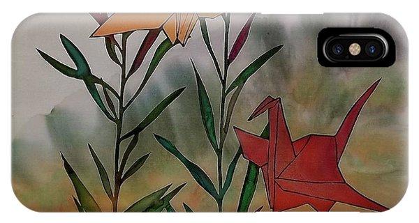 Paper Cranes 1 IPhone Case