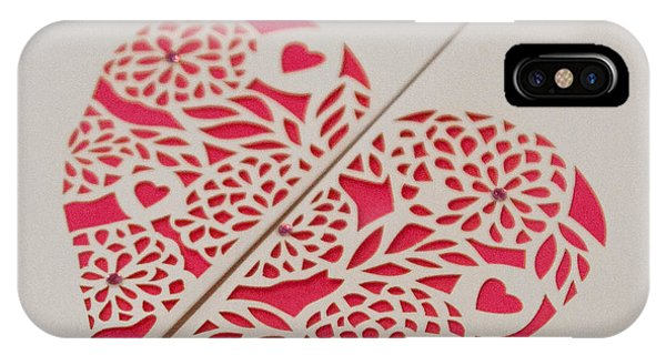 Paper Cut Heart IPhone Case