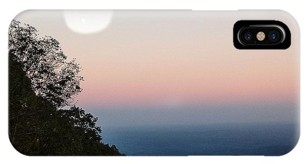 Paper Moon Over Blue Ridge IPhone Case