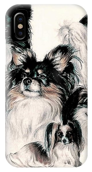 Papillon And Phalene Collage IPhone Case
