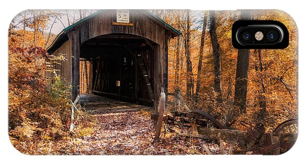Boys iPhone Case - Pappy Hayes Covered Bridge by Tom Mc Nemar