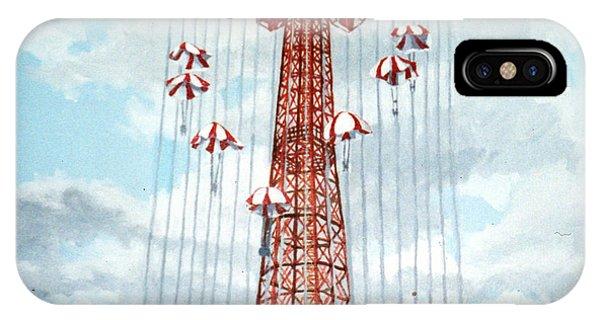 Parachute Jump In Coney Island New York IPhone Case