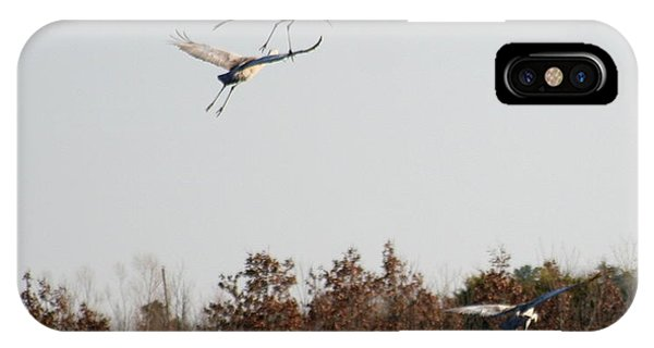 Parachuting Cranes IPhone Case