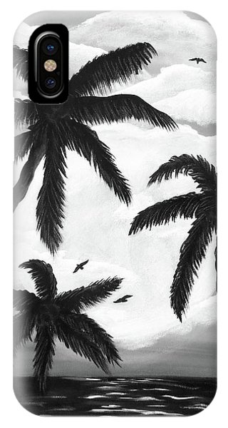 Paradise In Black And White IPhone Case