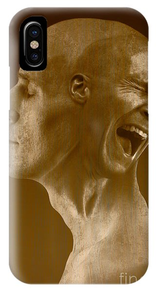 Anguish iPhone Case - Paranoid Schizophrenia by George Mattei