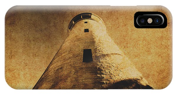 Damage iPhone Case - Parchment Paper Lighthouse by Jorgo Photography - Wall Art Gallery