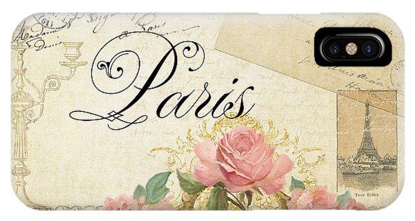 Paris iPhone Case - Parchment Paris - Timeless Romance by Audrey Jeanne Roberts