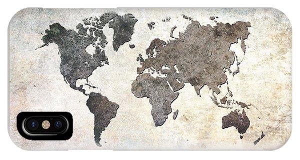 Parchment World Map IPhone Case