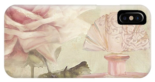 Perfume Bottles iPhone Case - Parfum De Roses I by Mindy Sommers