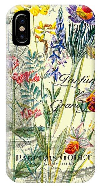 Texture iPhone Case - Parfum Vintage Paris by Delphimages Photo Creations