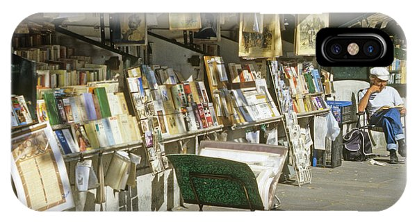 Paris Bookseller Stall IPhone Case