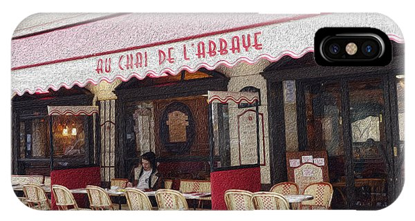 Paris Cafe 1 IPhone Case