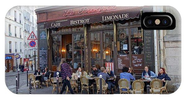 Paris Cafe Le Progres IPhone Case