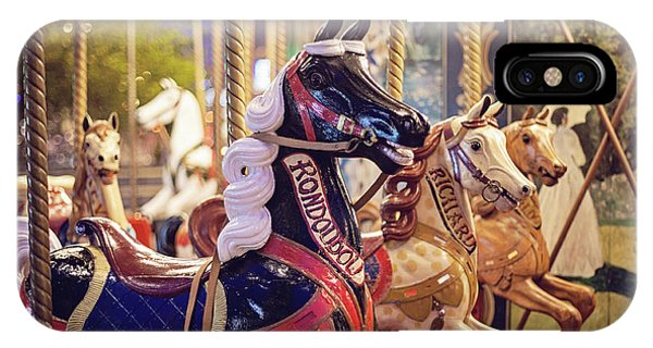 IPhone Case featuring the photograph Paris Carousel Photograph by Melanie Alexandra Price