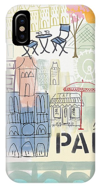 Paris iPhone Case - Paris Cityscape- Art By Linda Woods by Linda Woods