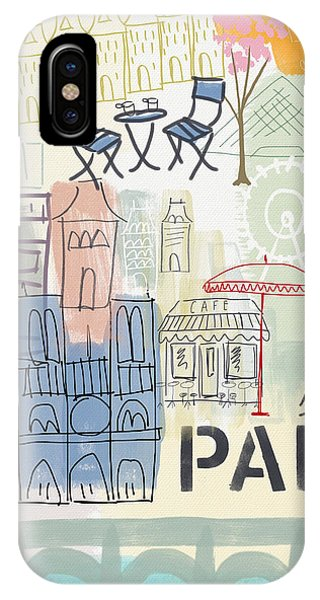 City iPhone Case - Paris Cityscape- Art By Linda Woods by Linda Woods