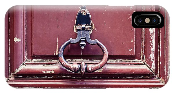 IPhone Case featuring the photograph Paris Door Knocker by Melanie Alexandra Price