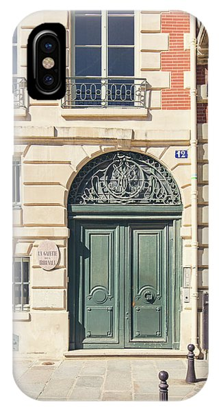 IPhone Case featuring the photograph Paris Doors No. 12 by Melanie Alexandra Price