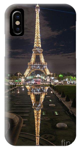 Paris iPhone Case - Paris Eiffel Tower Dazzling At Night by Mike Reid