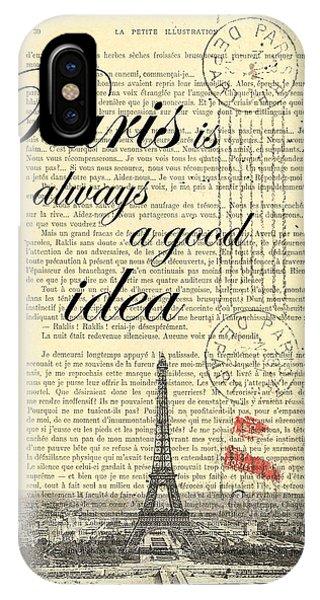 Cupid iPhone Case - Paris Is Always A Good Idea by Madame Memento