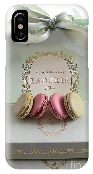 Paris Laduree Mint Box Of Macarons - Paris French Laduree Macarons  IPhone Case