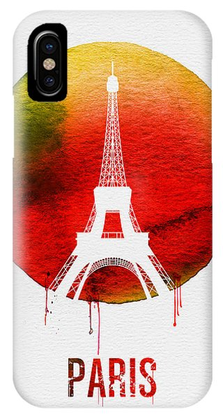 Paris iPhone Case - Paris Landmark Red by Naxart Studio