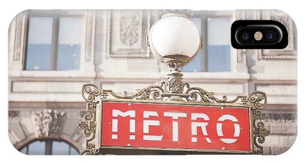 Paris Metro Sign Architecture IPhone Case
