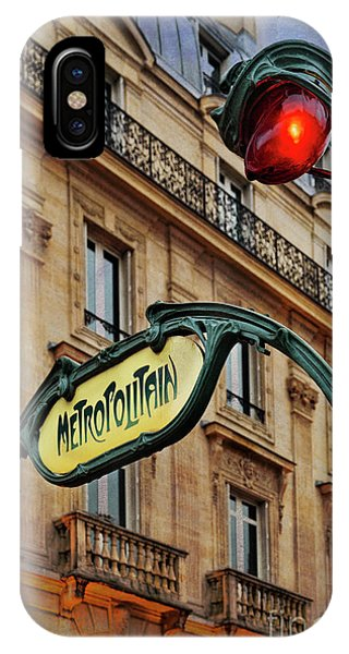 Paris Metro iPhone Case - Paris Metropolitain by Elena Nosyreva