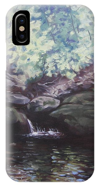 Paris Mountain Waterfall IPhone Case
