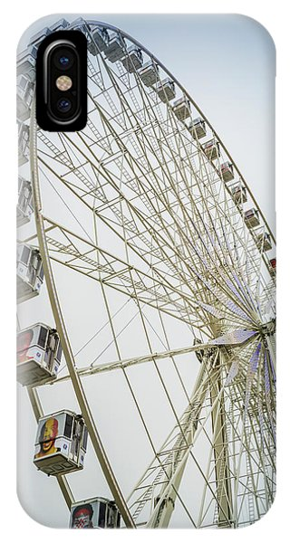 Concorde iPhone Case - Paris Observation Wheel by Joan Carroll