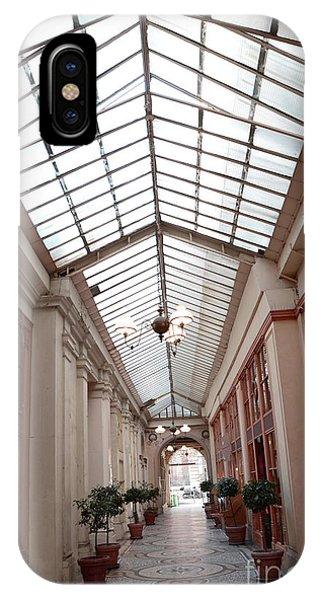 Window Shopping iPhone Case - Paris Galerie Vivienne - Paris Glass Dome Street Architecture - Galerie Vivienne  by Kathy Fornal