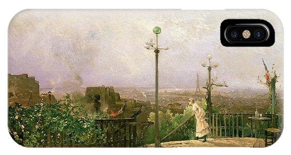 Paris Seen From The Heights Of Montmartre IPhone Case