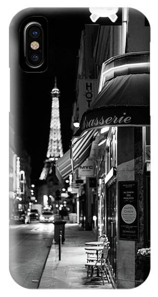 IPhone Case featuring the photograph Paris Streets By Night by Melanie Alexandra Price