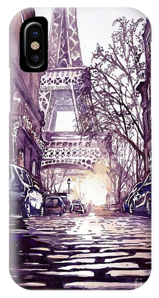 Magazine Cover iPhone Case - Paris by Suzann's Art