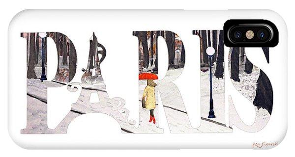 Paris Word Art IPhone Case