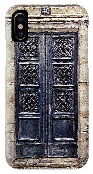 Parisian Door No.40 IPhone Case