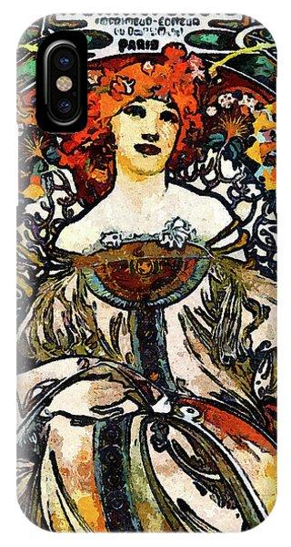 Parisian Lady Van Gogh Style Expressionism IPhone Case