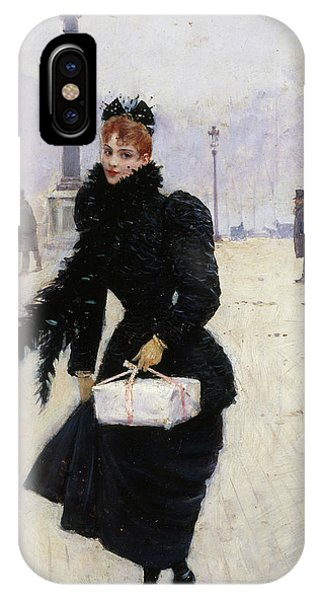 Concorde iPhone Case - Parisian Place De La Concorde by Jean Beraud