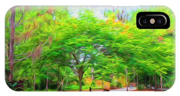 Park Bench iPhone Case - Park  Bench by Louis Ferreira