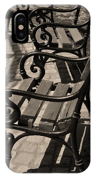 iPhone Case - Park Benches In Budapest by Kathy Yates