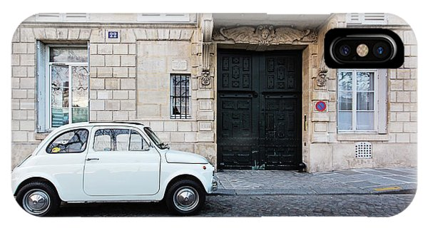 IPhone Case featuring the photograph Parked In Paris by Melanie Alexandra Price