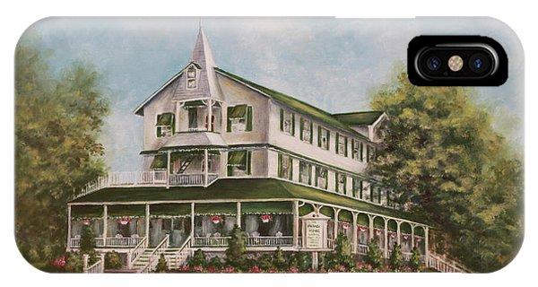 Porch iPhone Case - Parker House Sea Girt , Nj by Arlene Newman