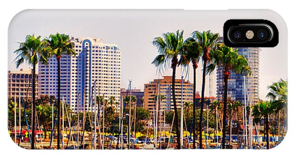 Parking And Palms In Long Beach IPhone Case