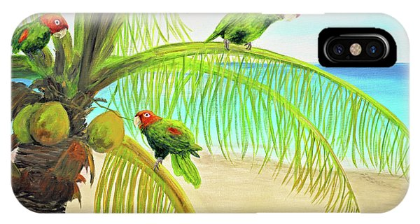 Parrot Beach IPhone Case