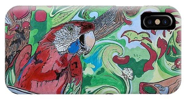 Parrot Kaleidoscope  IPhone Case