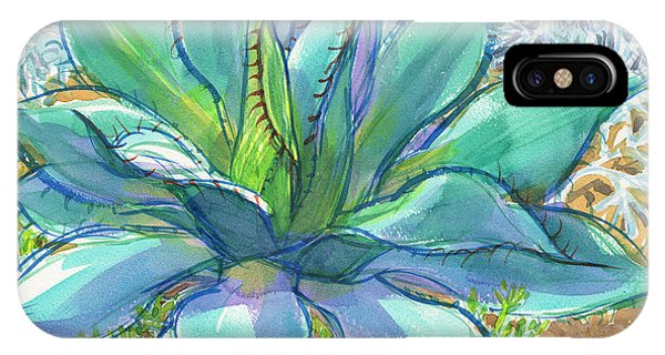 IPhone Case featuring the painting Parrys Agave by Judith Kunzle